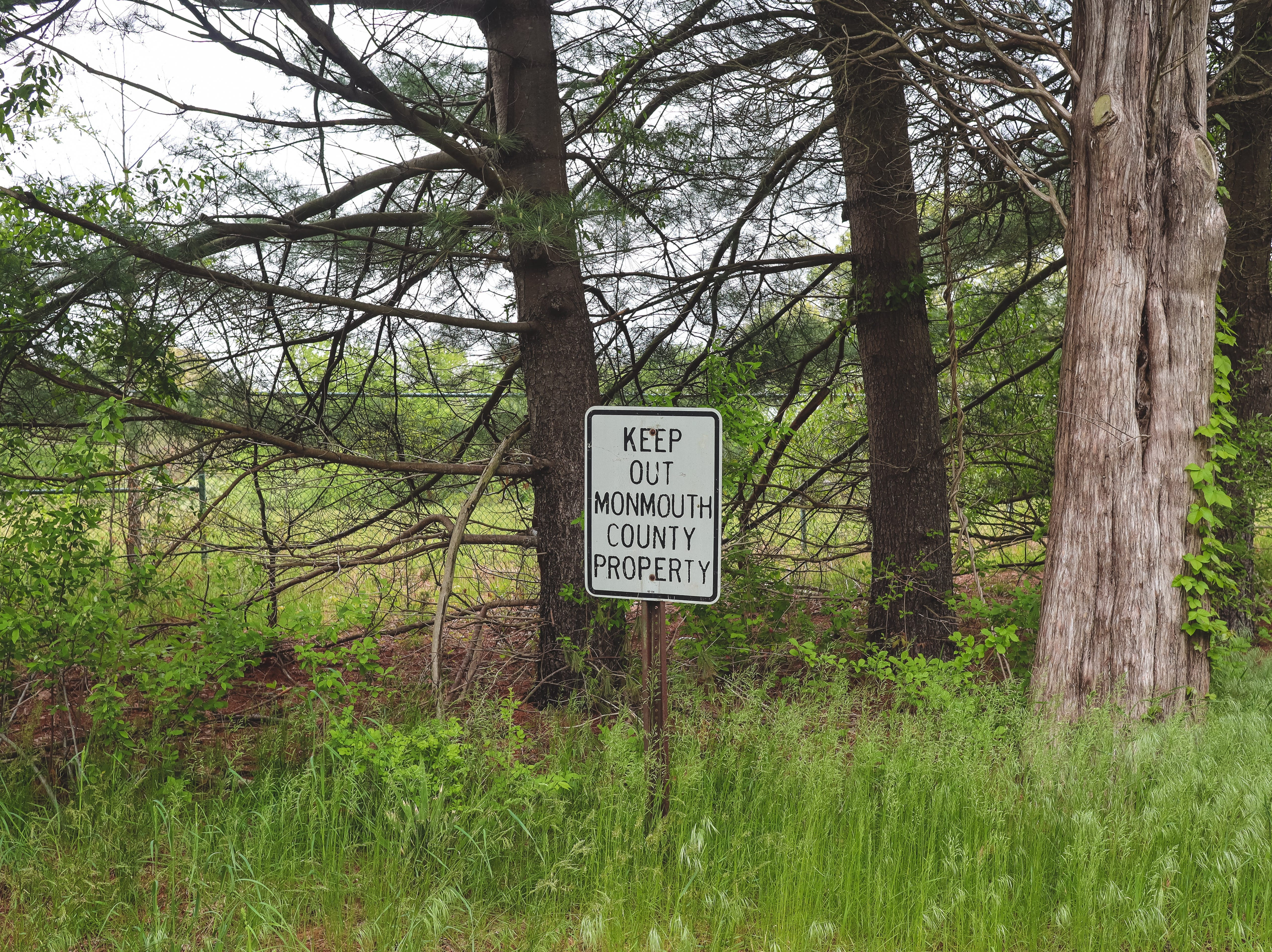 A fence keeps trespassers out of the Monmouth County Reclamation Center in Tinton Falls.