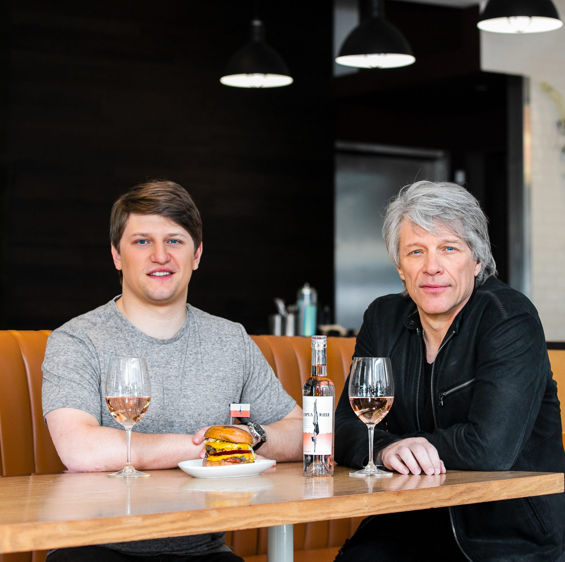 Bon Jovi and son Jesse have created the 'Hampton Burger' for Umami restaurants