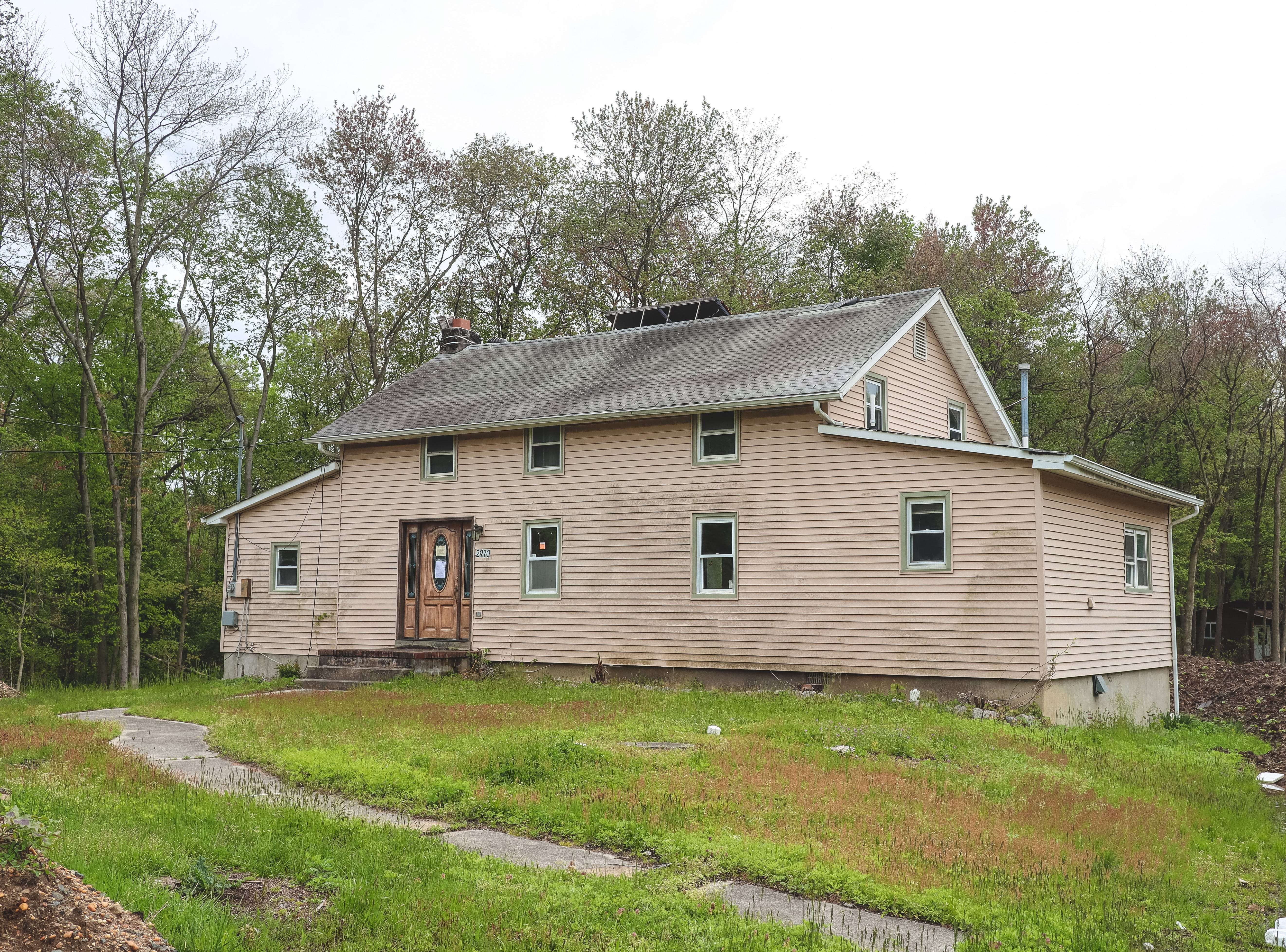 The Theobold family house where it is today at 2978 Shafto Road, Tinton Falls. The house was moved from 2955 Shafto Road for the Monmouth County Reclamation Center in 1991.
