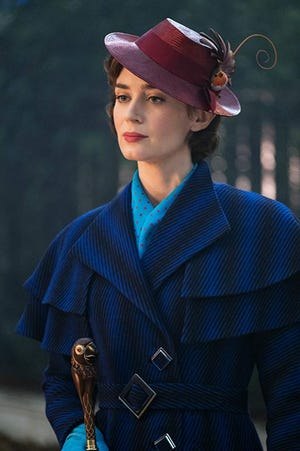 "Emily Blunt is the magical nanny in ""Mary Poppins Returns,"" which will be shown May 25 at the Paramount Theatre in Abilene."
