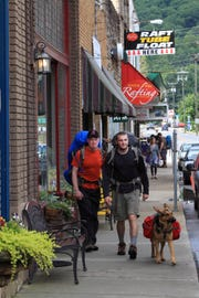 The Appalachian Trail passes down the main street of tiny Hot Springs.  photo provided by VisitNC.com VisitNC.com The Appalachian Trail passes down the main street of tiny Hot Springs, N.C.  Credit: VisitNC.com  Social Media Use OK  10 Best Appalachian Trail towns for 9/30
