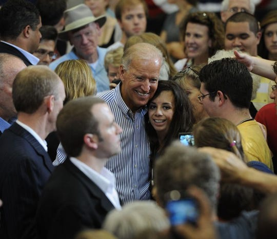 Vice President Joe Biden meets supporters during a Oct. 2, 2012 in Asheville.