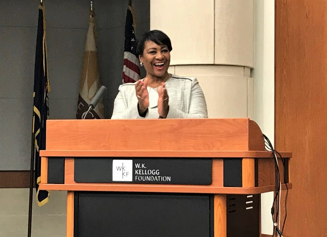 W.K. Kellogg Foundation President and CEO La June Montgomery Tabron announced a $15.5 million grant  to Grand Valley State University on Monday. Through the grant, GVSU will partner will Battle Creek Public Schools for programming aimed at preparing students for careers in high-demand jobs.