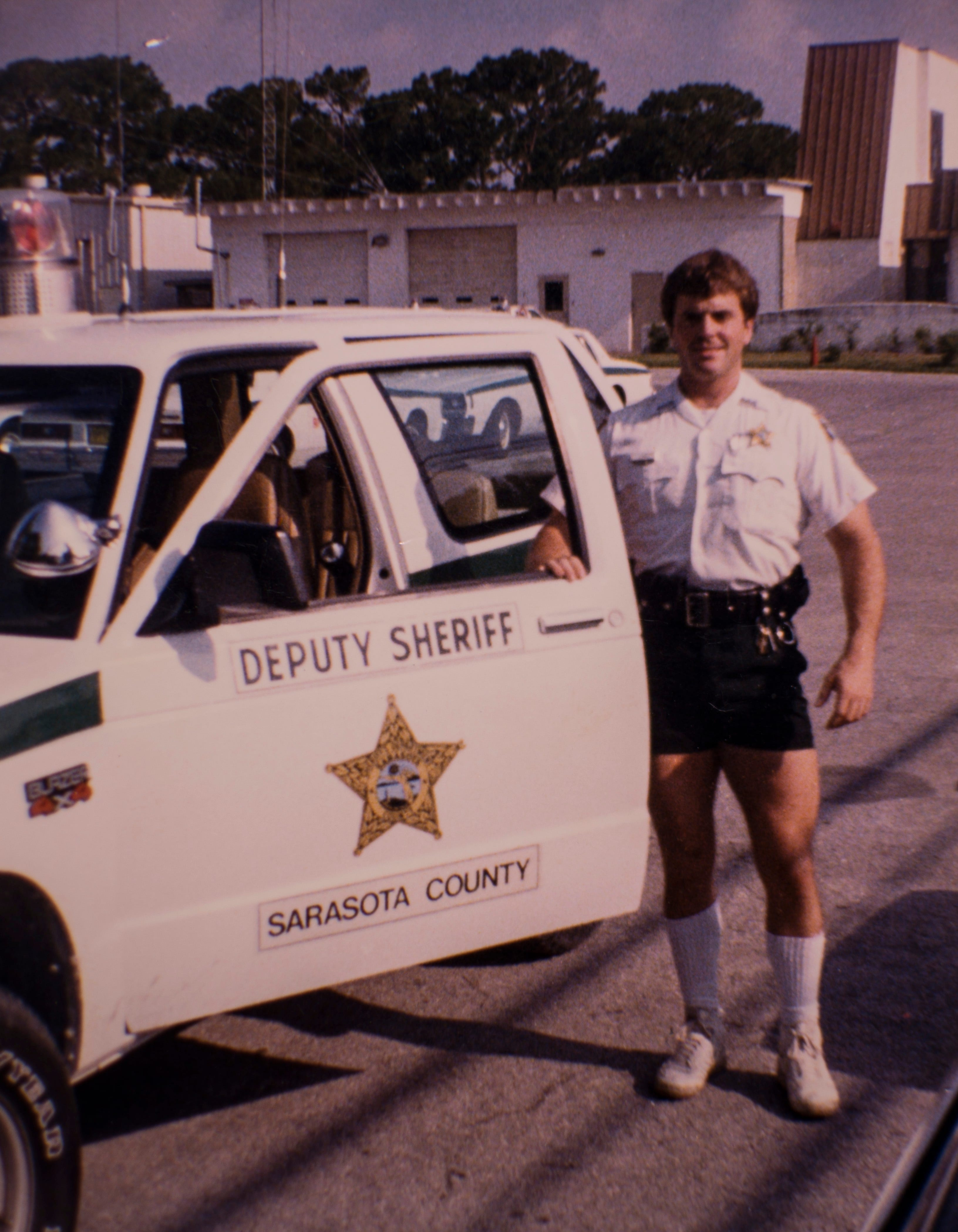 Michael Lowe shown in the early 1990s when he worked at the Sarasota County Sheriff's Department in Florida.