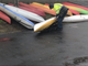 Kevin Eaton of Corinth inspects a state surplus kayak in Barre on Friday, May 10, 2019.