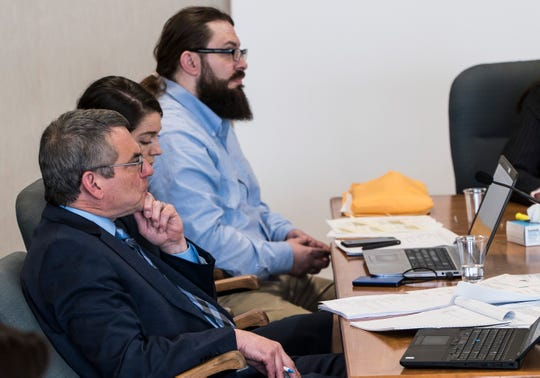 Steven Bourgoin's attorney Bob Katims listens to Judge Kevin Griffin deny his motion for mistrial that he made on Monday morning, May 13, 2019, in Vermont Superior Court in Burlington. Katim's argued that in testimony Friday, the state introduced new evidence that was not shared with the defense. The judge later denied the motion. Bourgoin is facing second-degree in the wrong-way crash deaths of 5 teens.
