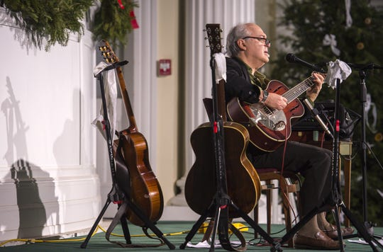 Paul Asbell performs at the First Congregational Church Sanctuary during First Night Burlington on Thursday, December 31, 2015.
