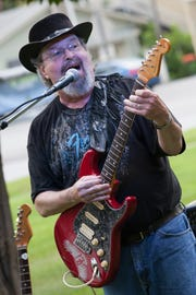 Nobby Reed of Highgate Springs jams the blues with the Nobby Reed Project on the Swanton Village Green in 2015.