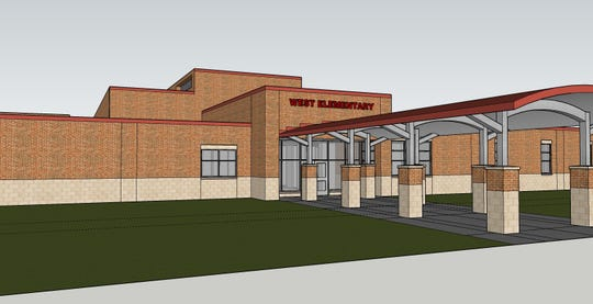 A rendering of the Calallen West Elementary School