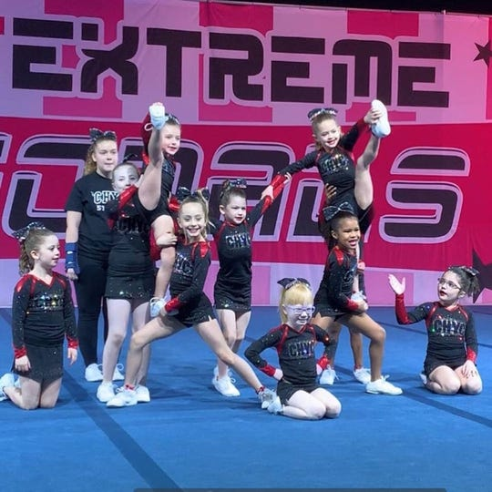 Kids of all ages competed with Cherry Hill Youth Cheerleading, which will now merge with another organization after losing the lease for its practice facility.