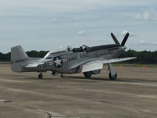 Visitors can watch vintage military planes, like this World War II P-51 Mustang fighter, take off and land during the Naval Air Station Wildwood Aviation Museum's annual AirFest, Aug. 30-Sept. 2, 2019.