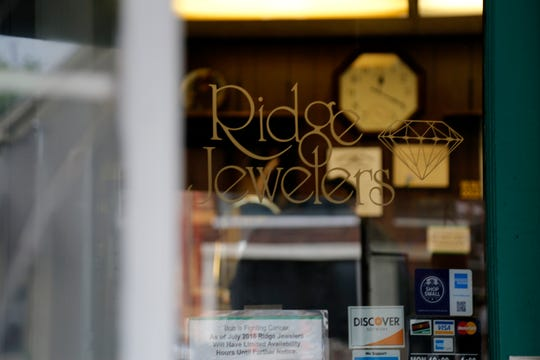 Ridge Jewelers in the Pleasant Ridge neighborhood of Cincinnati on Monday, May 13, 2019. Pleasant Ridge continues to see growth behind the opening of new restaurants and small businesses.