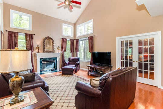 A brick front Colonial is for sale in Union Township's Highland Ridge neighborhood for $639,500.