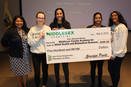 First place in the category went to the Middlesex County Academy for Allied Health and Biomedical Sciences