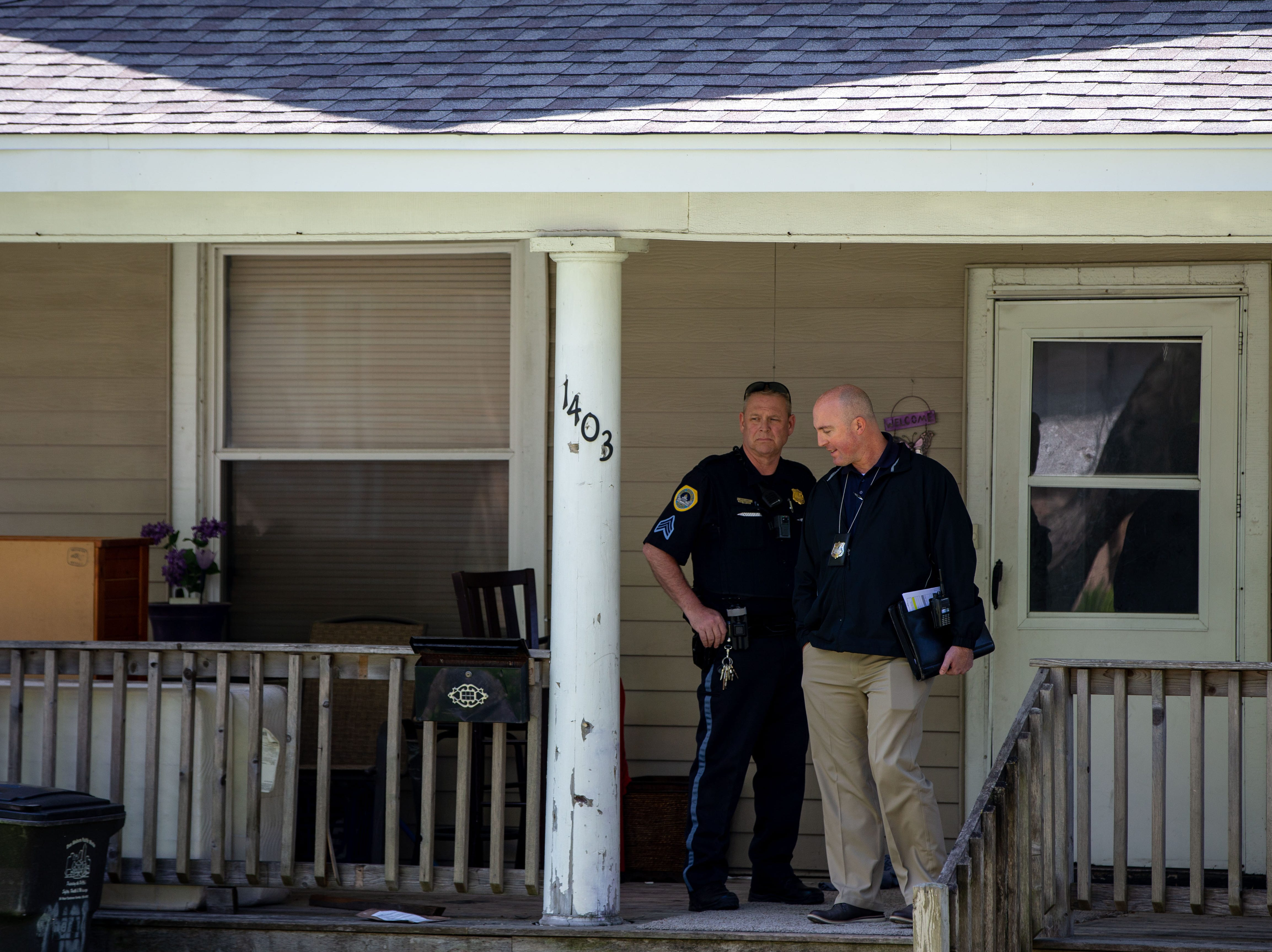 Police respond to a reported shooting at 1403 Dean Ave. in Des Moines Monday, May 13, 2019.