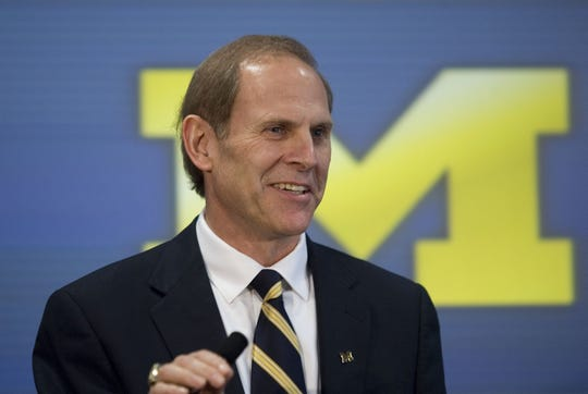 FREELANCE  John Beilein talks to the media at a press conference introducing him as the new men's basketball coach for the University of Michigan, Wednesday, April 4, 2007, in Ann Arbor, Mich.