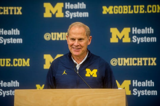Head Coach John Beilein answers questions during the University of Michigan Men's Basketball media day at Crisler Center in Ann Arbor on Oct. 3, 2016.