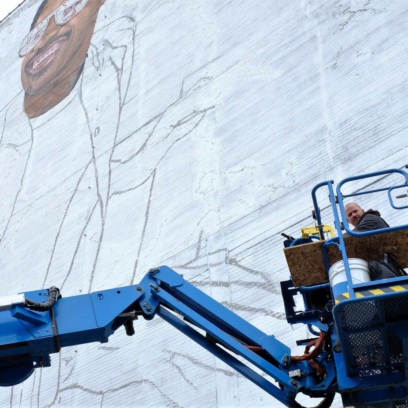 Massive Stevie Wonder mural in the works at downtown Detroit's Music Hall