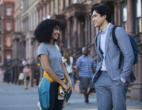 "Yara Shahidi and Charles Melton in ""The Sun Is Also a Star."""