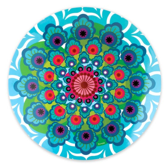 This Lazy Susan adds color to your holiday table.