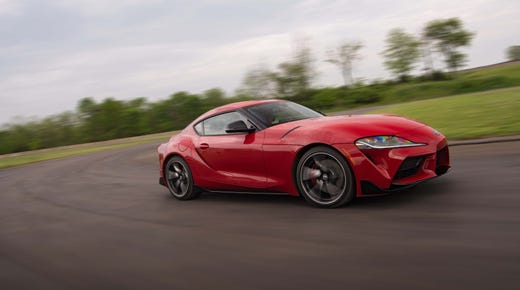 The 2020 Toyota Supra is a blast to drive fast. The neutral handling means the car changes directions quickly — and can be drifted at will.