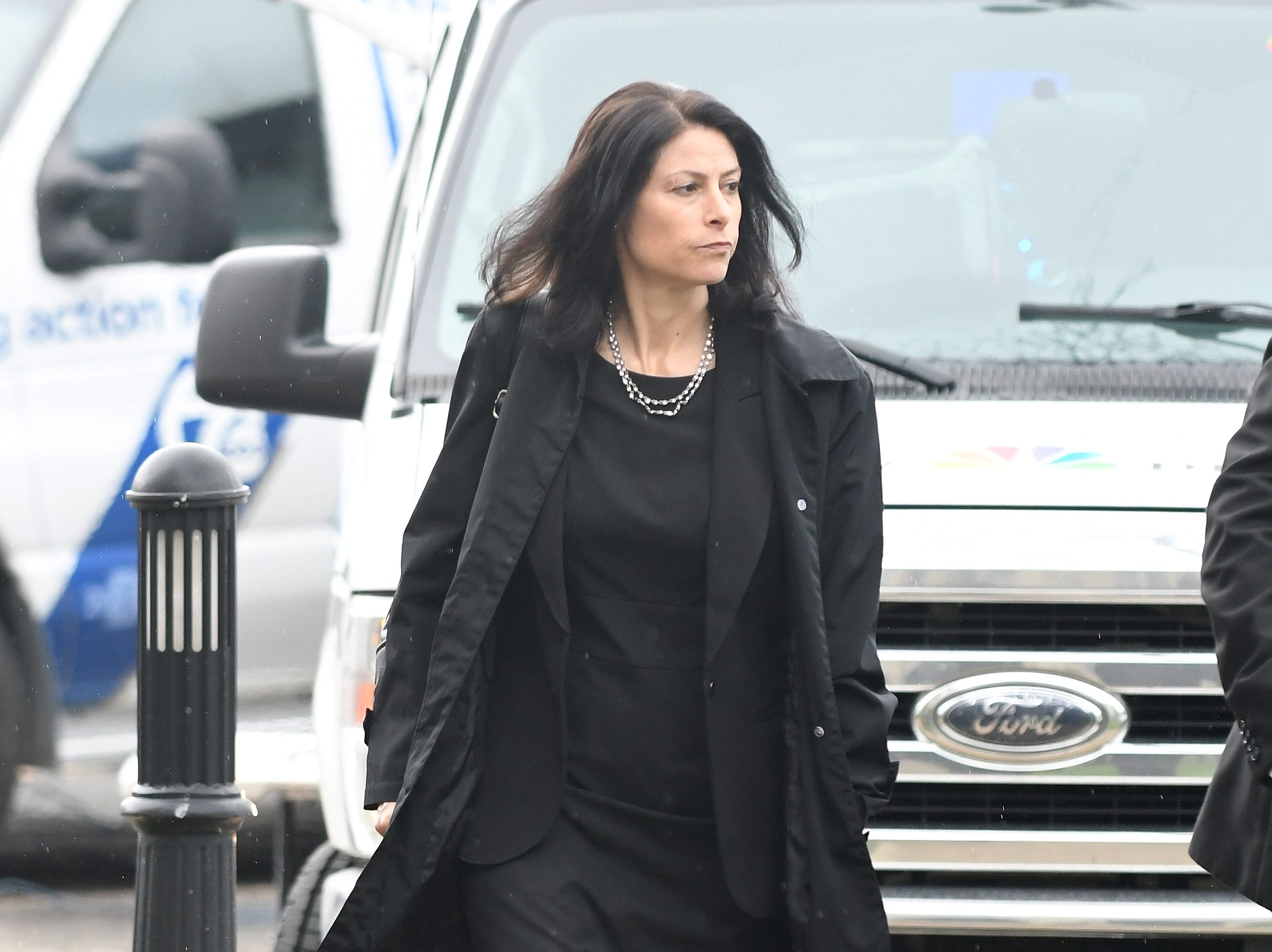 Michigan Attorney General Dana Nessel arrives for the funeral of Judge Damon Keith.