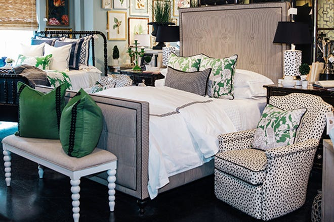 A custom upholstered bed frame is a great way to add style and drama to your bedroom.