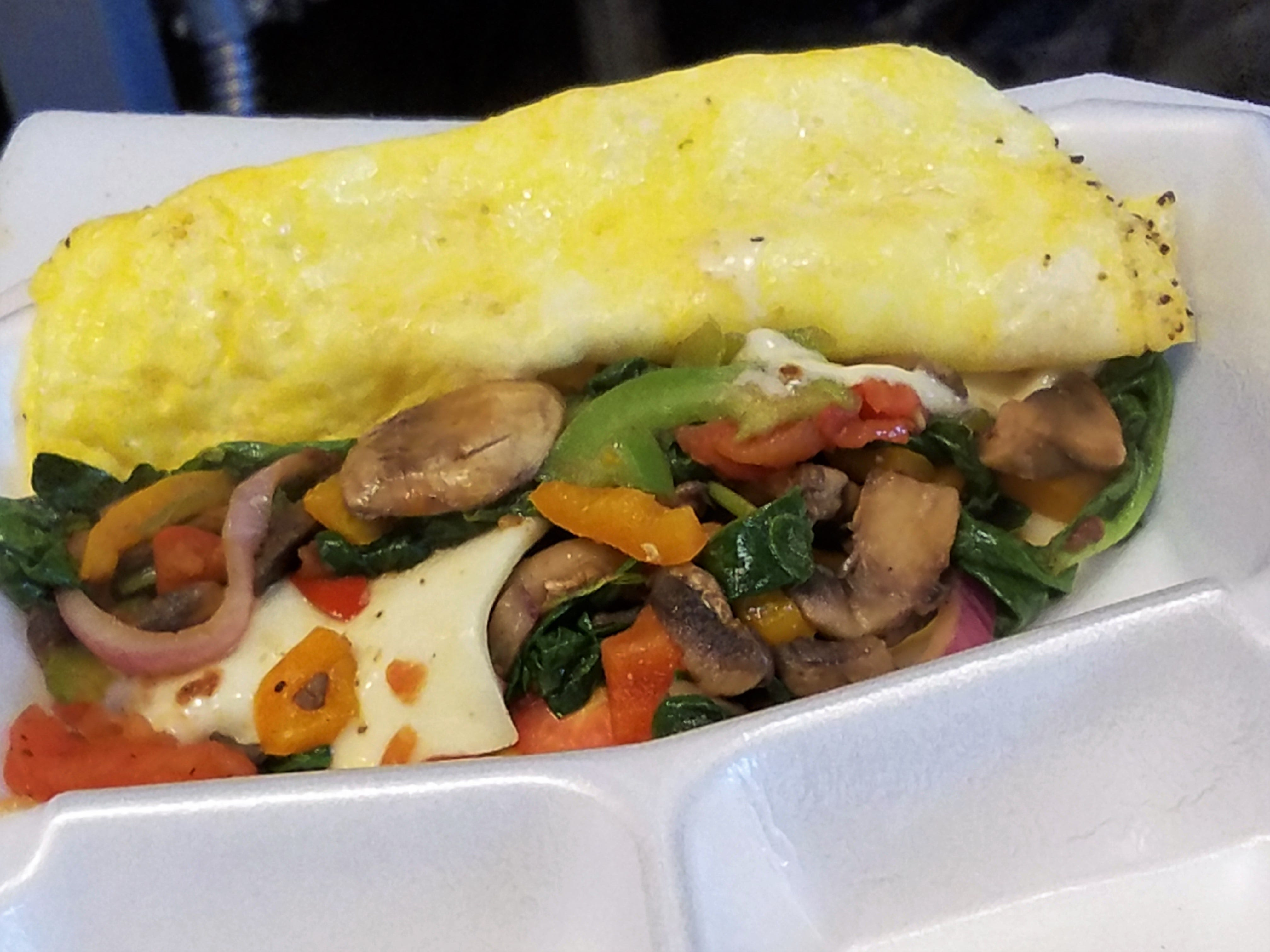 A veggie omelet from 6 a.m. in Eastland Mall.
