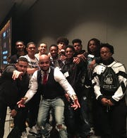 Ross High School students traveled to Akron on April 12 for an all Black Male Summit.
