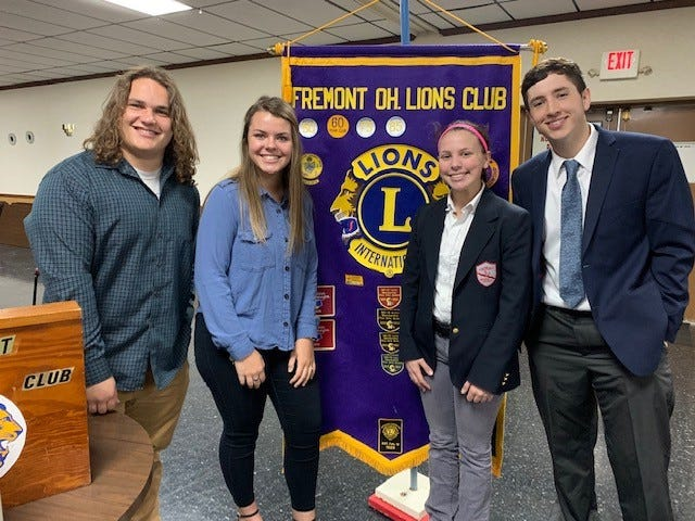 The Fremont Lions Club announced the May Students of the Monday. From left are Daniel Gerwin, Lauren Miller,  Madalyn Stierwalt, and Isaac Jimenez .