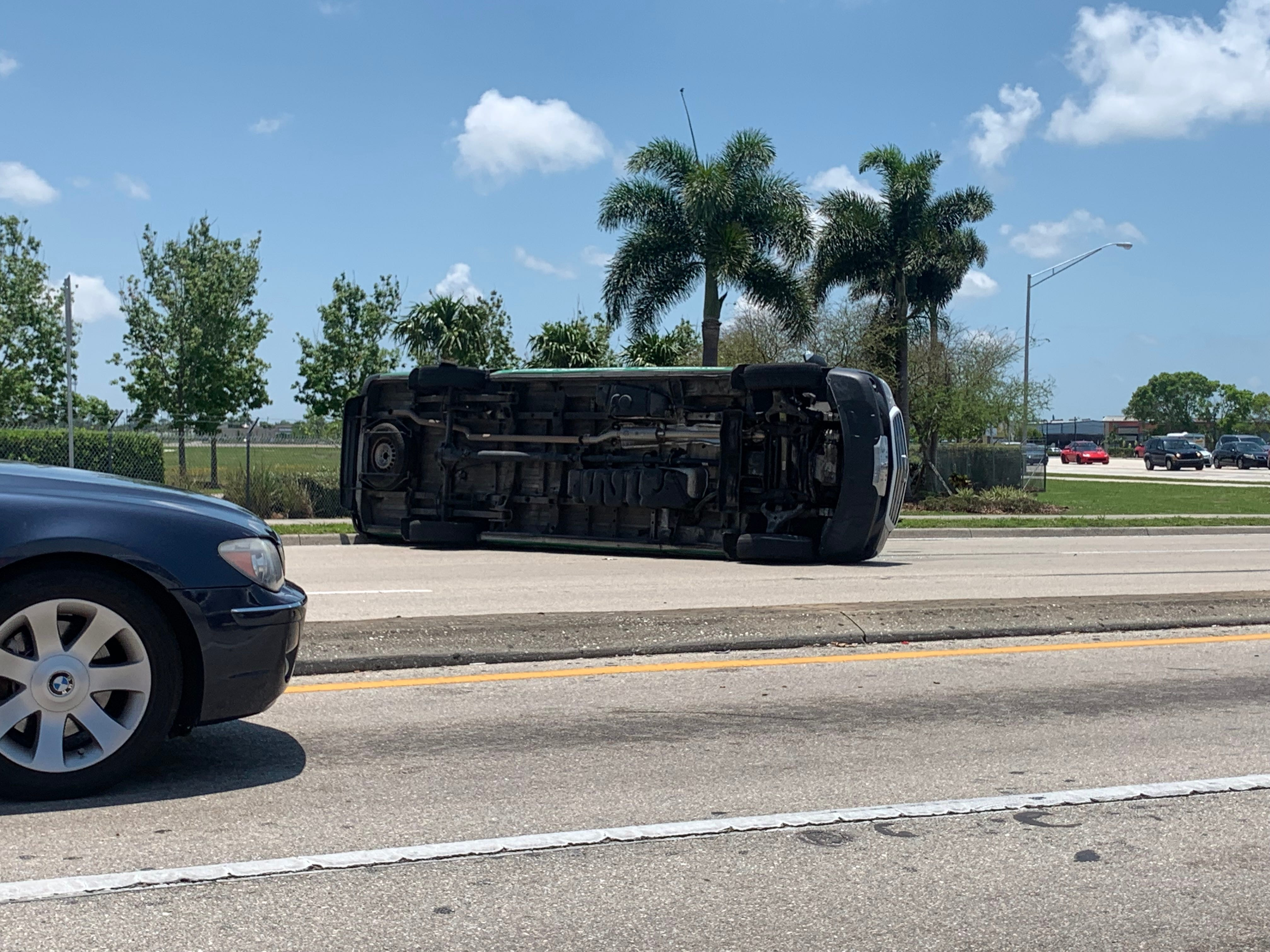 A crash at the intersection of U.S. 41 and Boy Scout Drive has blocked two northbound lanes of Fowler Street.The crash involved an Oakes Farms van and a passenger car. Nobody was hurt. Special to The News-Press