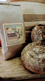 """Bread made with """"flour from the Front"""" by Conservation Grains farm and craft flour mill."""