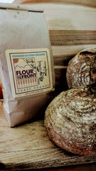 "Bread made with ""flour from the Front"" by Conservation Grains farm and craft flour mill."