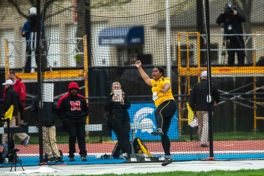 Iowa's Laulauga Tausaga enters the NCAA Championships as one of the meet favorites in the women's discus.