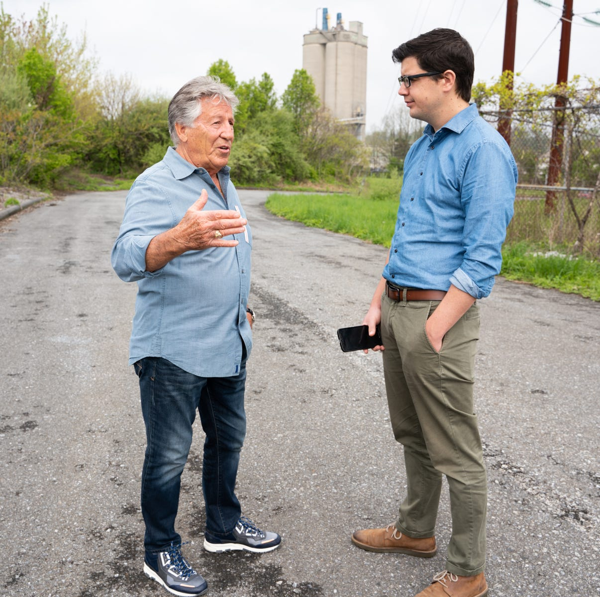 Mario Andretti at abandoned Nazareth Speedway: 'It's not a happy reunion'