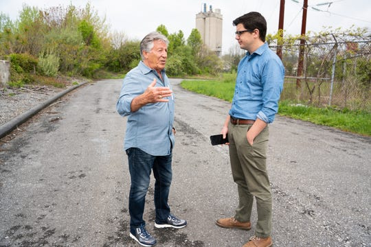 Mario Andretti visits the vacant and overgrown Nazareth Speedway in Nazareth, PA on Tuesday, April 30, 2019, where the legendary race car driver calls home. Andretti will be honored at the Indianapolis 500 in May for the 50th anniversary of his one and only win. Brianna Spause / for IndyStar