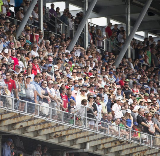 Ticket sales for the 2019 Indy 500 are expected to match 2018's, which were larger than than 2017 ticket sales that helped produce this crowd.