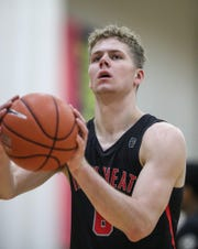 Caleb Furst at the Nike EYBL event at the Pacers Athletic Center in Westfield,, May 11, 2019.