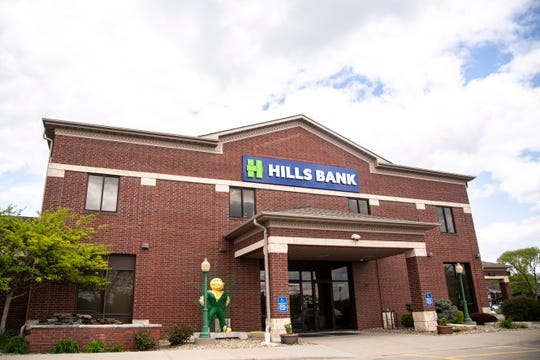 Hills Bank and Trust is pictured, Monday, May 13, 2019, at 1009 2nd St, Coralville, Iowa.