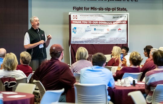 Mississippi State head coach Joe Moorhead knows some fans were not happy with his first season at the helm, but he spent Monday's Road Dawgs Tour telling them why the future is bright in Starkville.