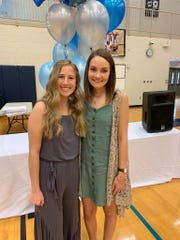 Anna Martin, right, at the Hardin Valley Academy awards ceremony. Martin will graduate from Hardin Valley Academy on Thursday and plans to attend Belmont University in the fall to become a pediatric oncology nurse.