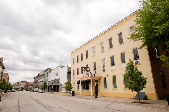 Businesses along 100 block of N. Perry st., Monday, May 13, 2019, in Attica.