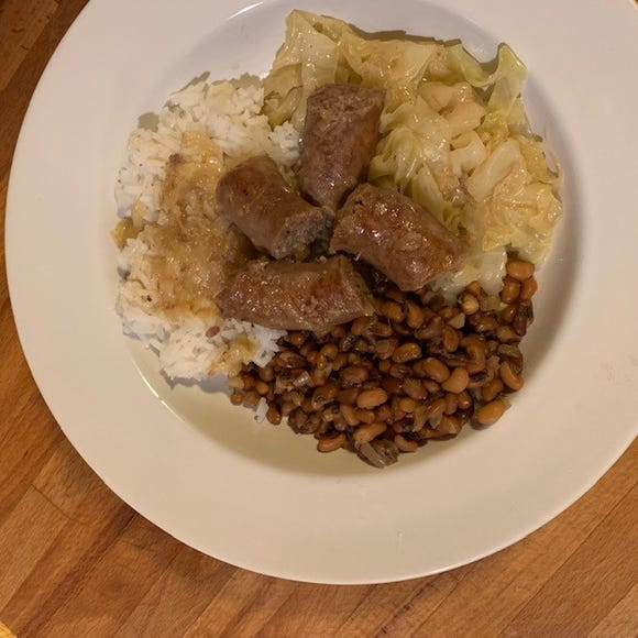 Chef Anne offers a recipe for sausage and gravy with cabbage and field peas.