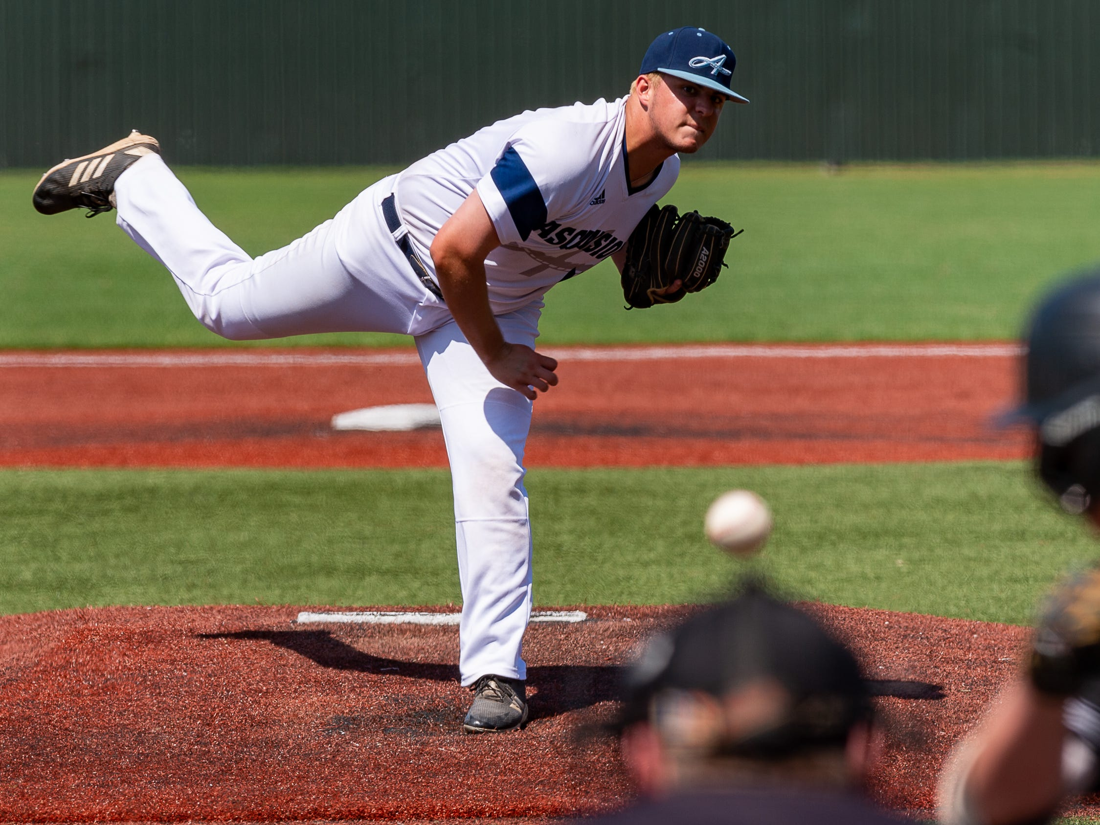 Sean Michael Brady on the mound as Ascension Episcopal falls to Calvary Baptist Championship round at the LHSAA State Tournament. Monday, May 13, 2019.