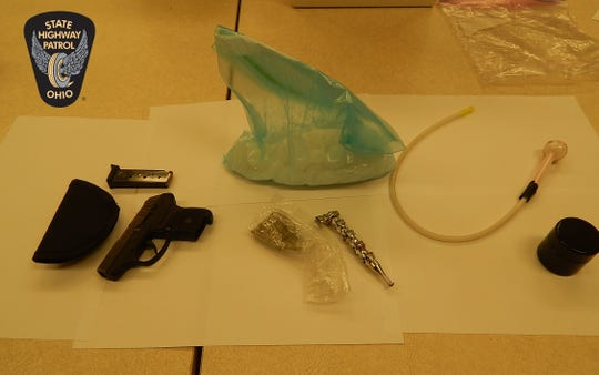 On May 8, Ohio Highway Patrol troopers confiscated 458 grams of methamphetamine, one loaded handgun and drug abuse instruments during a traffic stop in Hocking County.