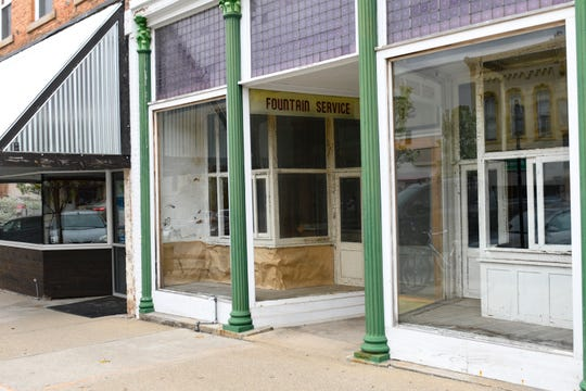 The future home of Hanover's Michigan Mints on North Clinton Avenue in downtown St. Johns.  This building was formerly the Sugar Bowl, which closed in 1970.  They'll have a candy store inside.  The building next door will house Hanover's mint production.