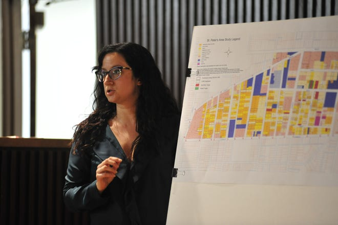 Tracy Bond, community development director, outlined a plan Tuesday to reallocate over $228,000 in federal funds.