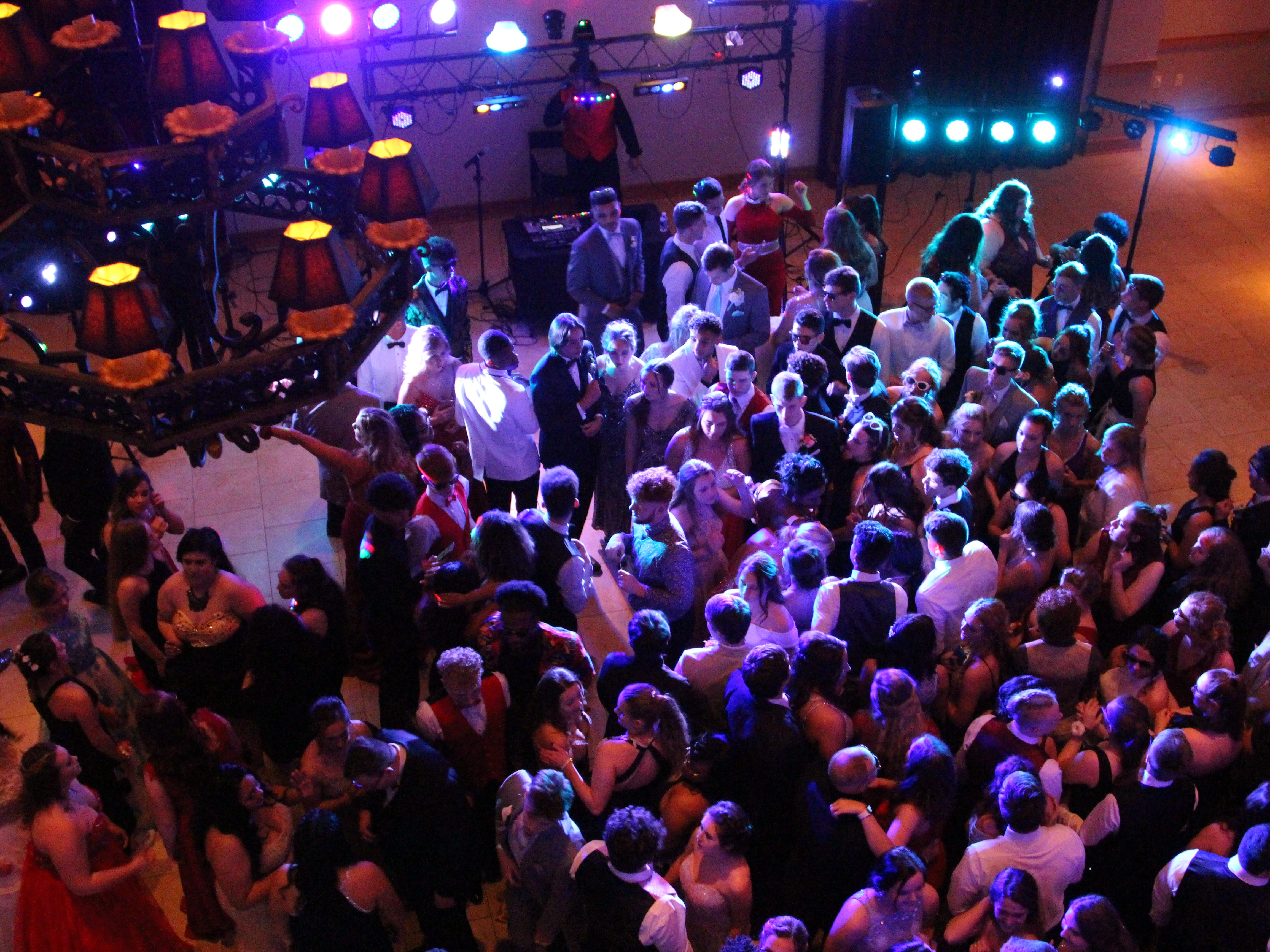 Marion Harding High School students dance Saturday at prom, at the Marion Palace Theatre's May Pavilion.