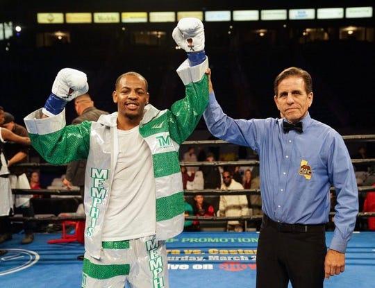 Professional boxer Ladarius 'Memphis' Miller after a fight.