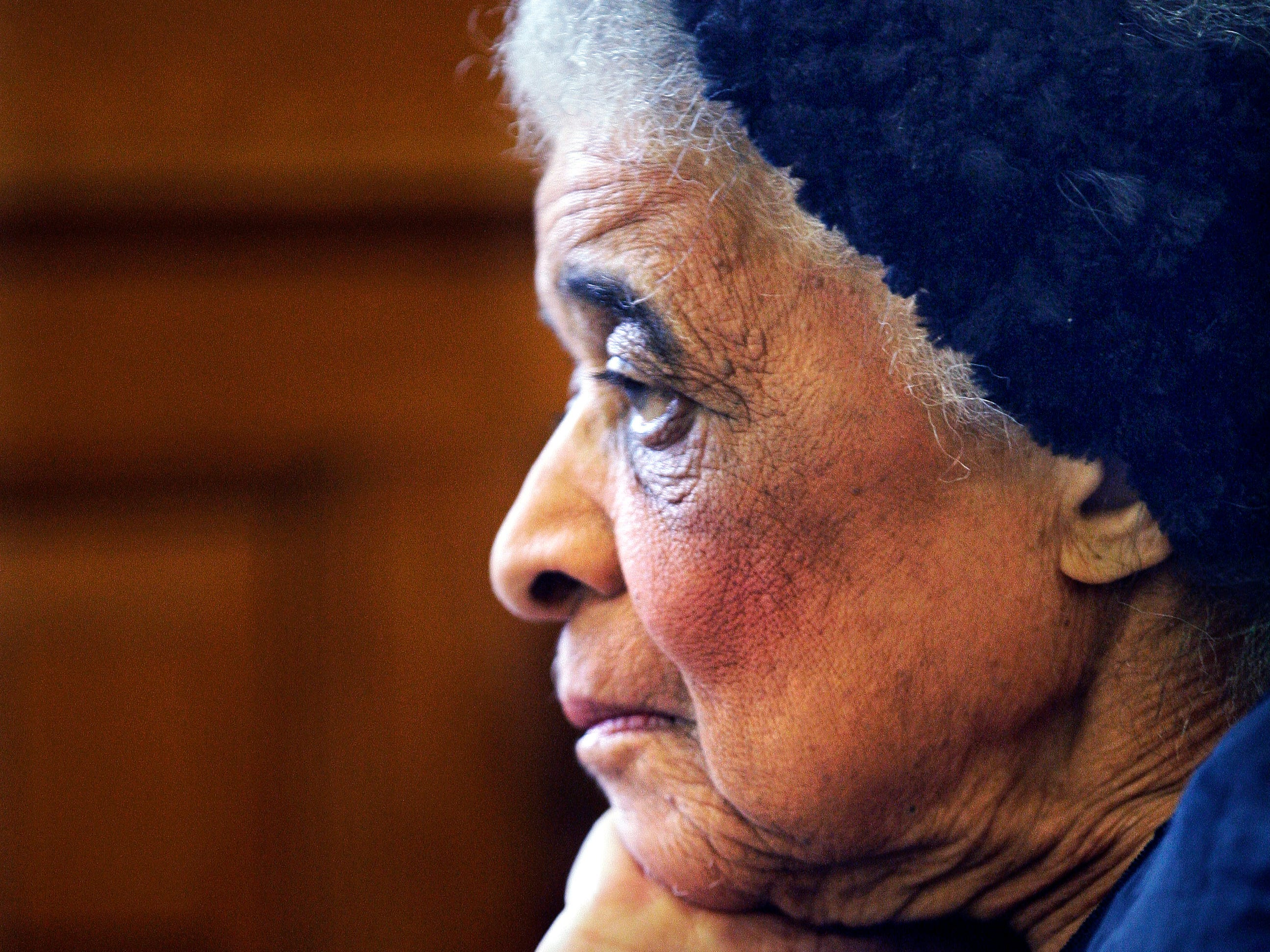 Vel Phillips, 90, was being honored at the Common Council meeting at  Milwaukee City Hall in this March 4 2014,  Journal Sentinel file photo for her many years as a civil rights advocate. Phillips paved the way as  the first woman and first African American woman in the Milwaukee Common Council. She died in 2018.